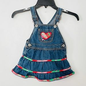 Osh kosh overall dress size 2t girls layer